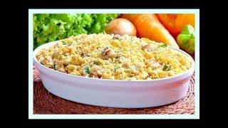 Receita de Farofa de Cenoura e Bacon