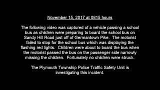 Sandy Hill Road School Bus Incident