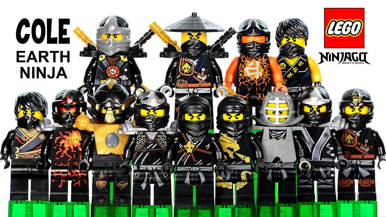 lego ninjago cole the black ninja of earth 2015 minifigure ultimate collection