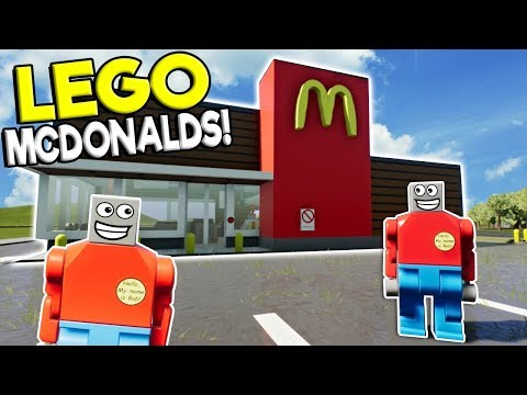 GETTING A JOB AT LEGO McDONALDS! - Brick Rigs Roleplay Gameplay - Lego City Job Simulator