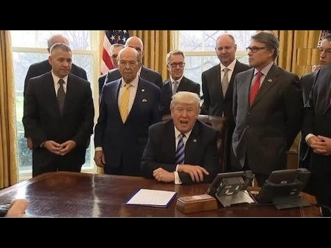 WATCH: President Donald Trump Meets With The National Economic Council