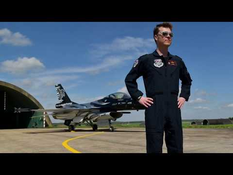 Roll-out BAF F-16 Solo Display Team 'Dark Falcon' 23rd April 2018