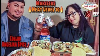 MARISCOS Heat Level 10! | Angelina Spicy Collab