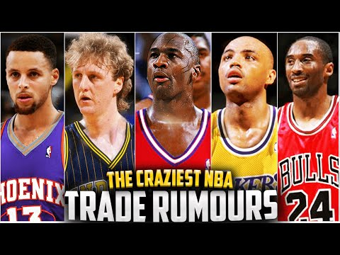 10 Crazy NBA Trades That ALMOST HAPPENED!! Steph Curry, Michael Jordan, Kobe, Bird + More!