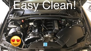 A Quick Engine Detail and Channel Stickers on My BMW 328i