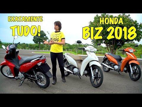 TUDO sobre a Honda Biz 2018! Apresentação Teste Review