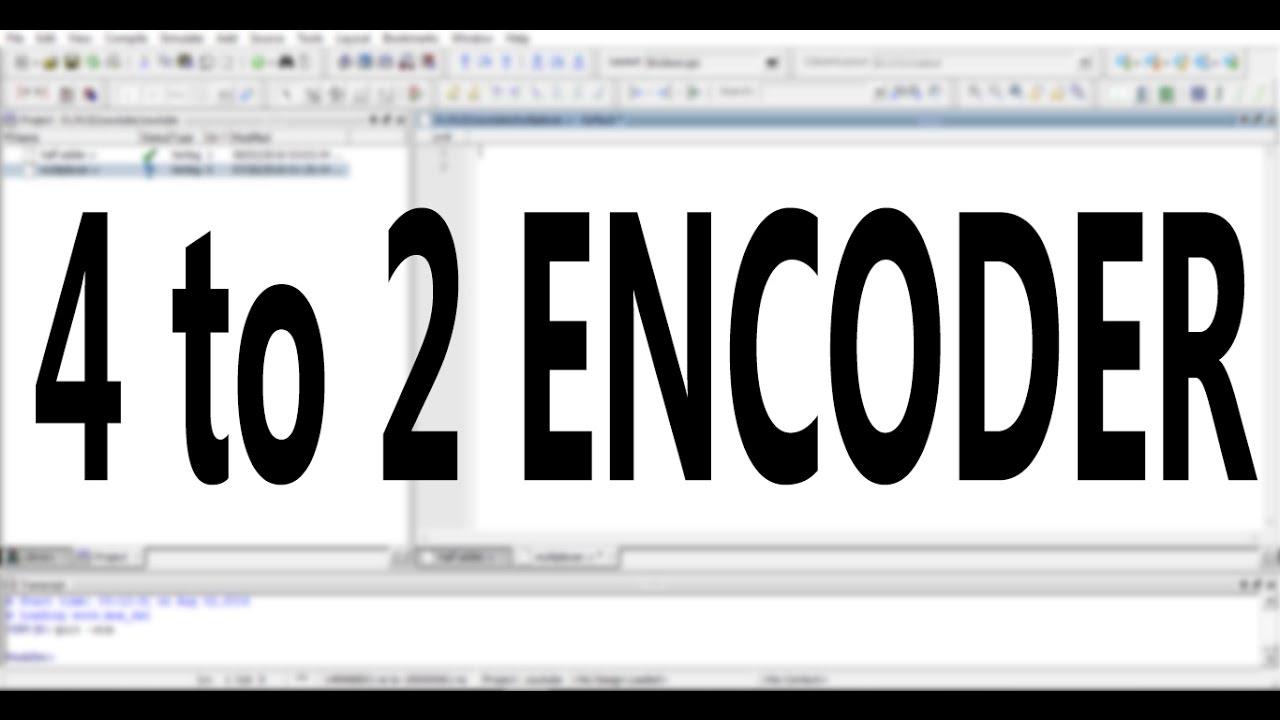 89 2 Encorder Mpeg Encoder Setup 8x 4 To Vhdl It Will Logic Diagram Verilog Code For