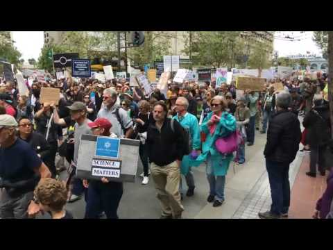 March for Science San Francisco California (April 22, 2017) [Timelapse]