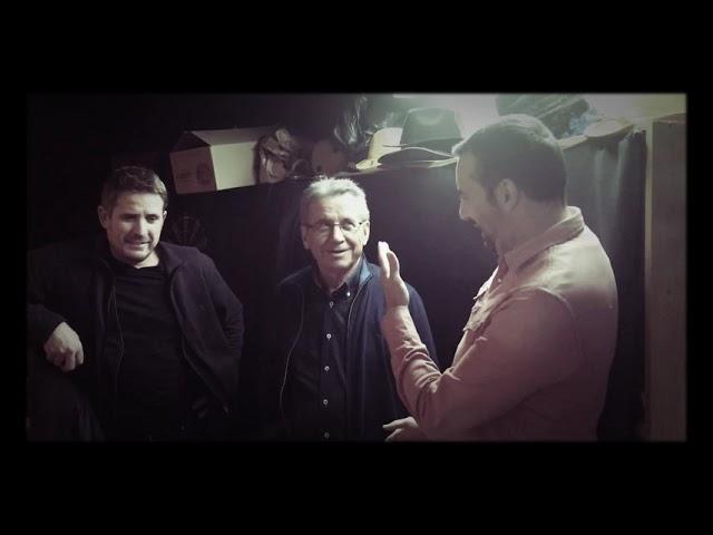 David Carrasco charla con Leo Rubio y Damián antes de la actuación con Nuestros Findes