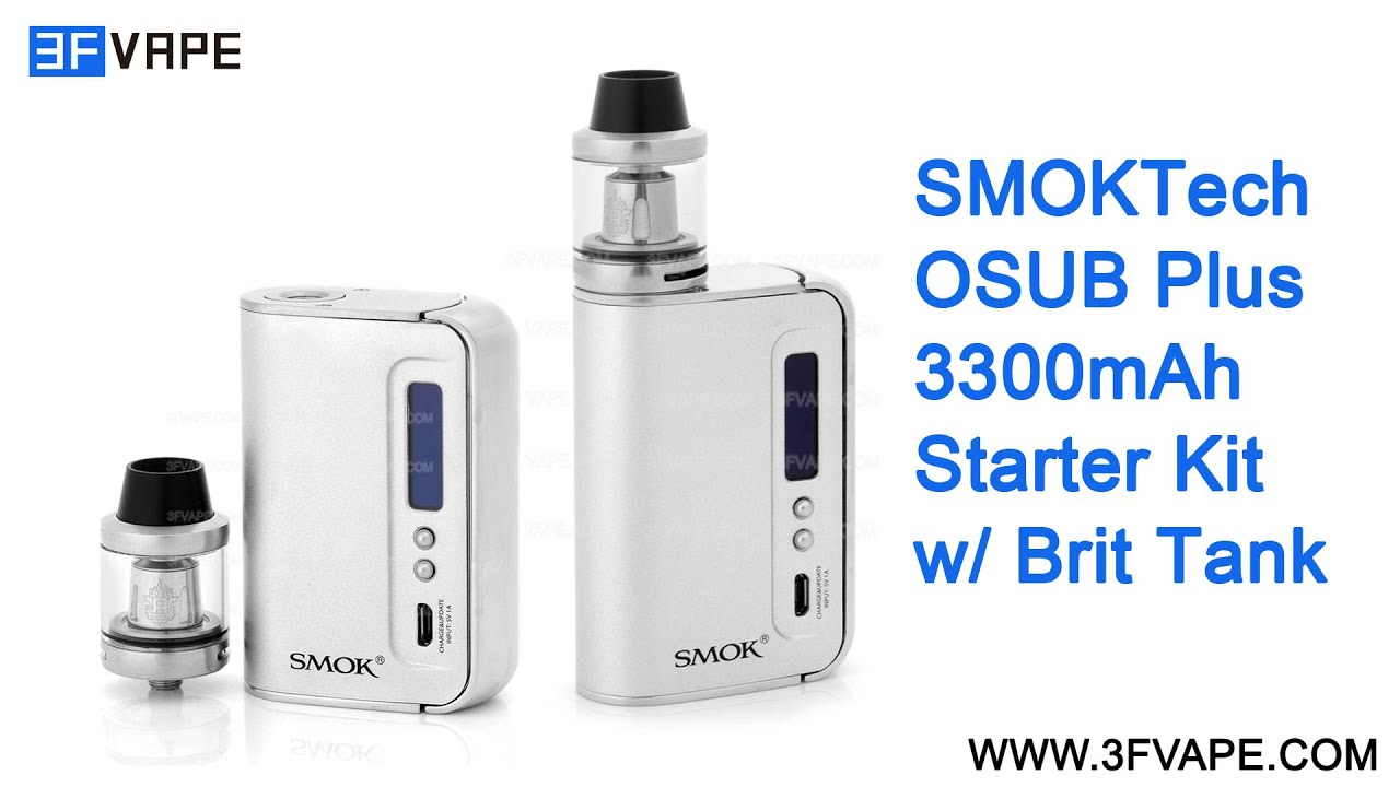 SMOKTech SMOK OSUB Plus 3300mAh Starter Kit Unboxing Review
