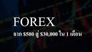 Forex  $500 To $30000 ภายใน 1 เดือน