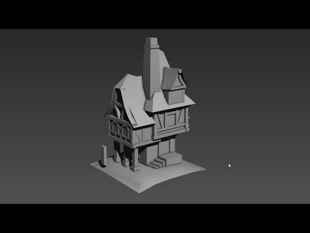 Medieval House Timelapse - Part 1 Blockout