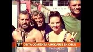 ACTORES DE PELICULA LOS 33 LLEGAN A CHILE A RODAR TELETRECE CENTRAL C13 29 01 2014