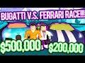 RACING THE BUGATTI AND FERRARI IN ROBLOX JAILBREAK!!! (BRAND NEW UPDATE)