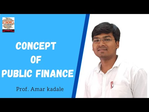 concept of public finance by amar kadale