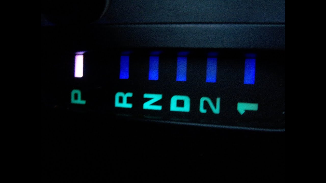 How to Change your Center Console Gear Selector Light