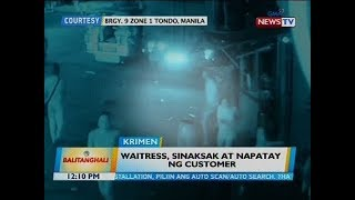 Waitress, sinaksak at napatay ng customer