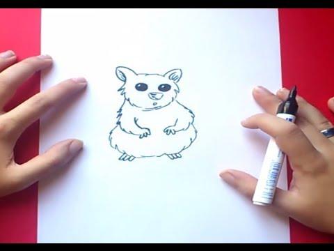 Como dibujar un hamster paso a paso | How to draw a hamster - YouTube