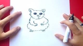 Como dibujar un hamster paso a paso | How to draw a hamster