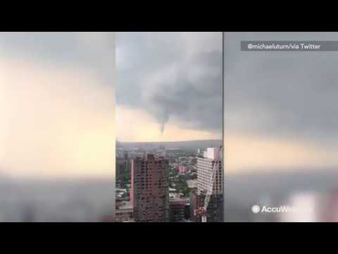 Funnel cloud spotted over New York City