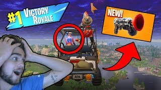 NEW GRAPPLE HOOK BUG!! | World Record High Stakes Victory? - Fortnite Battle Royale