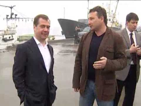July 3, 2012 Russia_Medvedev arrives in Southern Kuril Islands