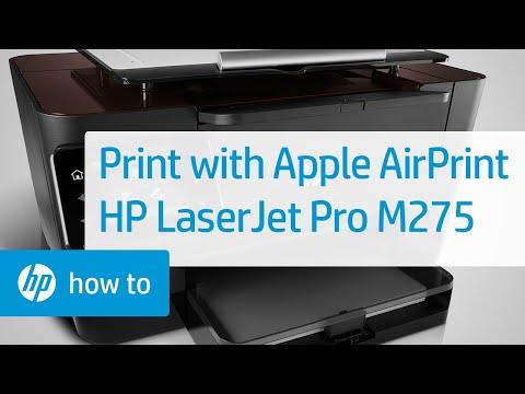 Printing Wireless Direct Using Apple's AirPrint - HP LaserJet Pro M275 | HP Printers | HP