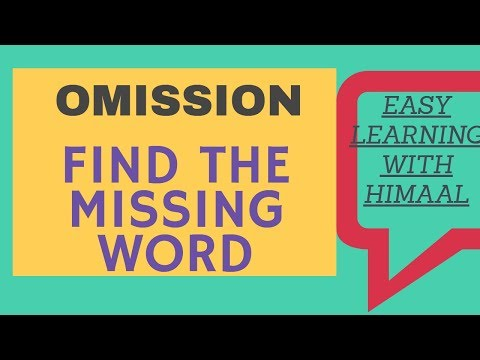 OMISSIONS -HOW TO  FIND THE MISSING WORD ?? (CBSE) // EASY LEARNING WITH HIMAAL