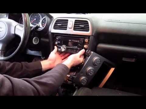 How To 2005 Subaru WRX/ STI Stock Double Din Head Unit Removal and