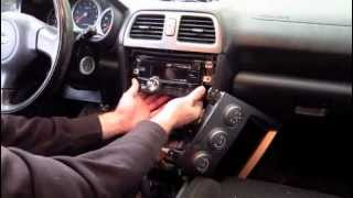 How To: 2005 Subaru WRX/ STI Stock Double Din Head Unit Removal and Replacement