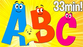 ABC Songs for Kids  A to Z Uppercase  Super Simple ABCs