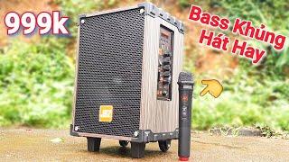 Loa kéo Karaoke dưới 1 triệu mà Bass Khủng Hát Hay quá mọi người ạ - Có Micro Không Dây nữa