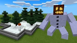 How To Make a MUTANT SNOW GOLEM Farm in Minecraft PE