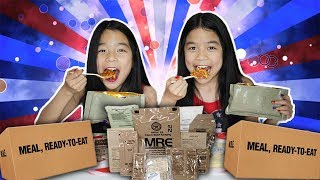 MRE [MILITARY FOOD] MEMORIAL DAY   Tran Twins