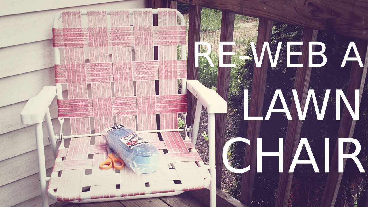 Lawn Chair Webbing Replacement Eames Shell Re Web A Youtube
