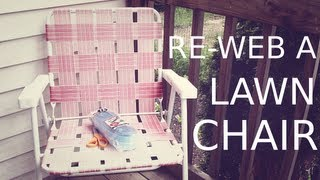 Re-web A Lawn Chair
