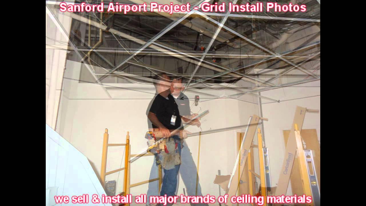 Orlando drop ceiling grid tile installation materials contractor orlando drop ceiling grid tile installation materials contractor florida how to install panels youtube dailygadgetfo Images