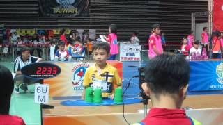 Sport Stacking:Asian Championship 2014 Daniel LIn(Taiwan)333 final(World Record)