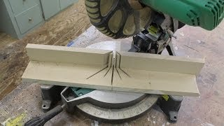 "How To Make A ""sacrificial Fence"" For Your Chop Saw."