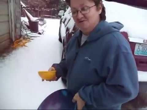 how to make home made snow ice cream