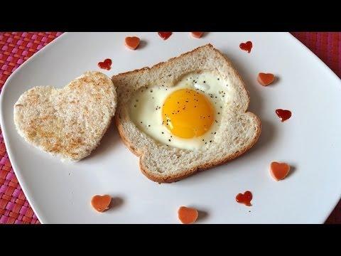 Desayuno para san valentin pan tostado con huevo youtube - Desayunos en casa ...
