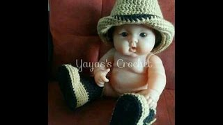 Diy Cowboy crochet hat (written instructions on description)