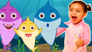 Baby Shark   Kids Song and Nursery Rhymes Sing and Dance   Animal Songs with Leah's Play Time