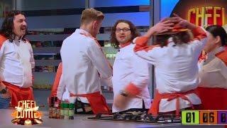 Echipa PORTOCALIE, câştigătoarea primei probe! Chef Florin Dumitrescu: