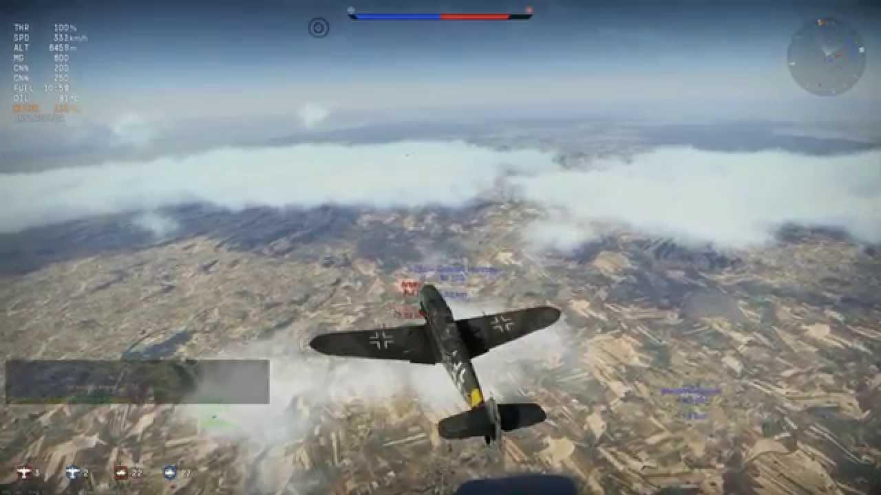 War Thunder - Gameplay Bf109-G6 FR - YouTube