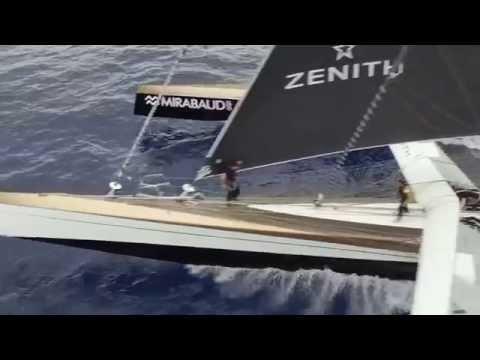 Jules Verne Trophy - Drone en Atlantique / Drone above the Atlantic