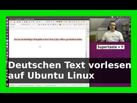 WLBI - Verständliche Sprachausgabe Deutsch Ubuntu Linux Vorlesen Text nach  Sprache Tutorial - German