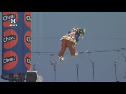 Chloe Kim Snowboard Half Pipe Run (Part 3)