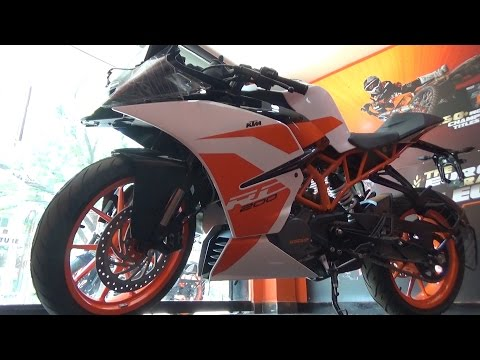 NEW KTM RC200 BS-IV WITH AHO WALK AROUND DETAILS REVIEW IN HINDI