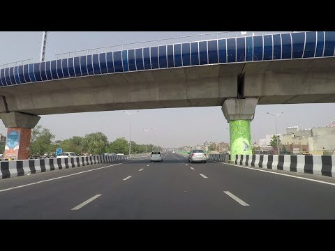 Driving in Delhi (Delhi-Meerut Expressway) - India